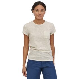 Patagonia Mainstay T-shirt Femme, kelp and sand big/dyno white